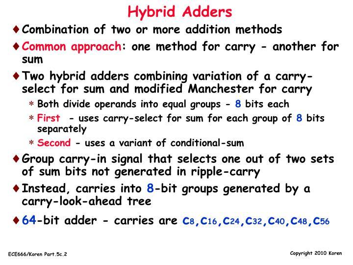 Hybrid Adders