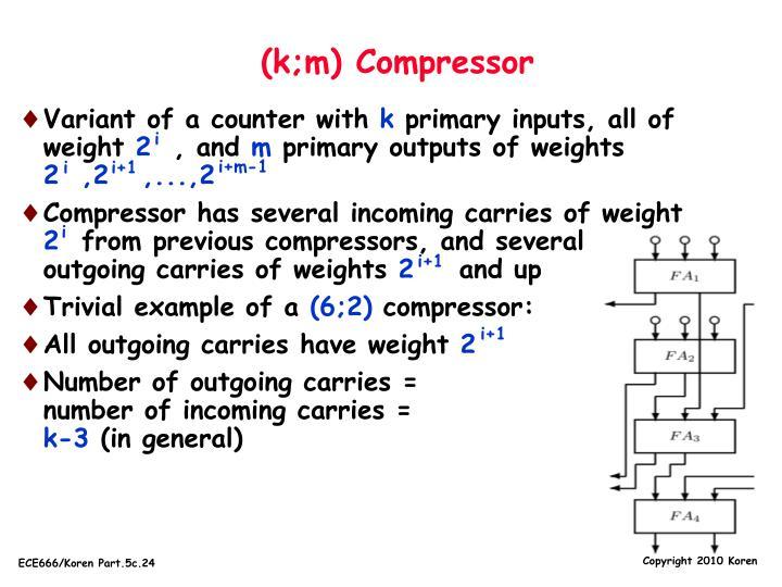 (k;m) Compressor