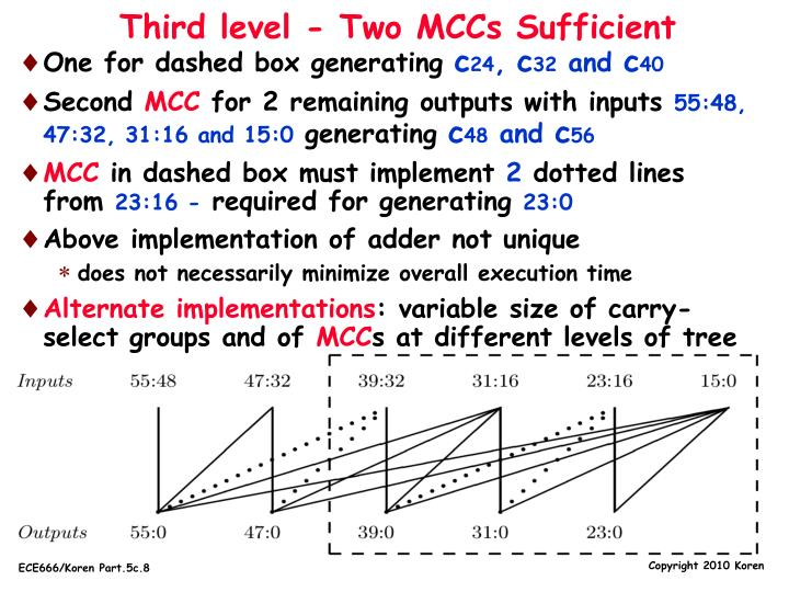 Third level - Two MCCs Sufficient
