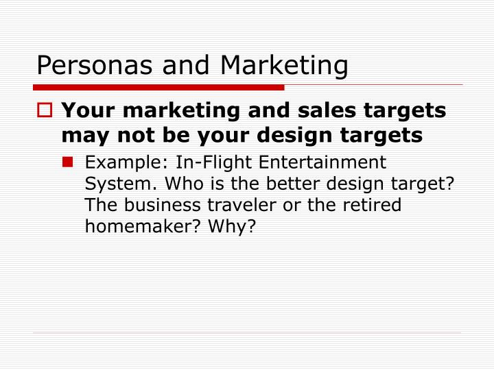 Personas and Marketing