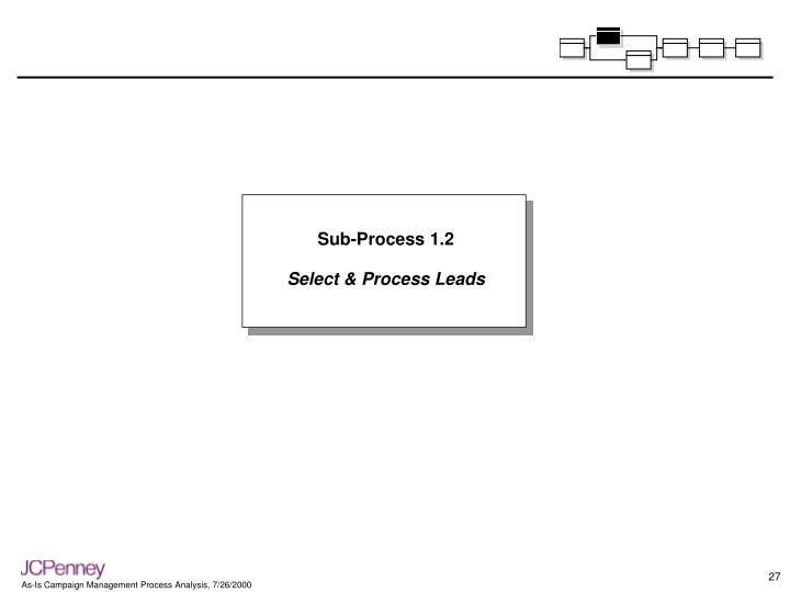 Sub-Process 1.2