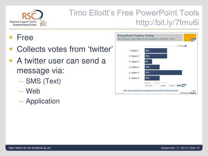Timo Elloitt's Free PowerPoint Tools