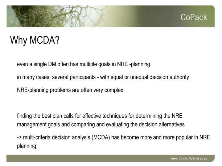 Why MCDA?