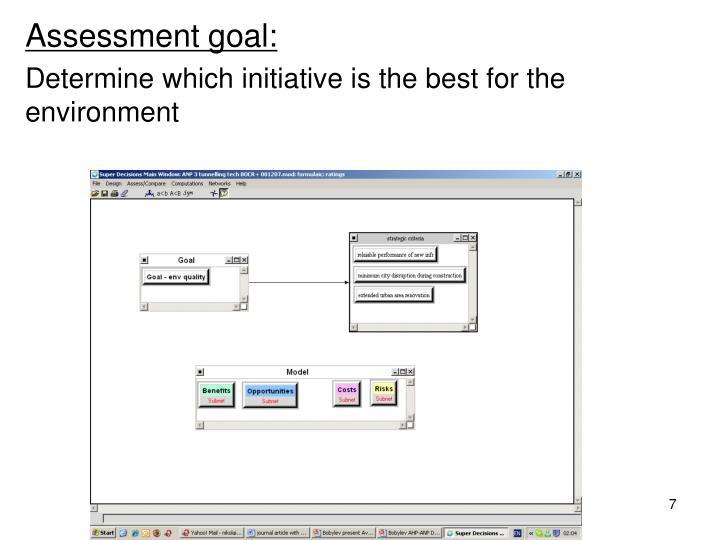 Assessment goal: