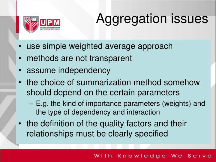 use simple weighted average approach