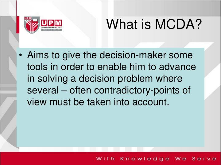 What is mcda