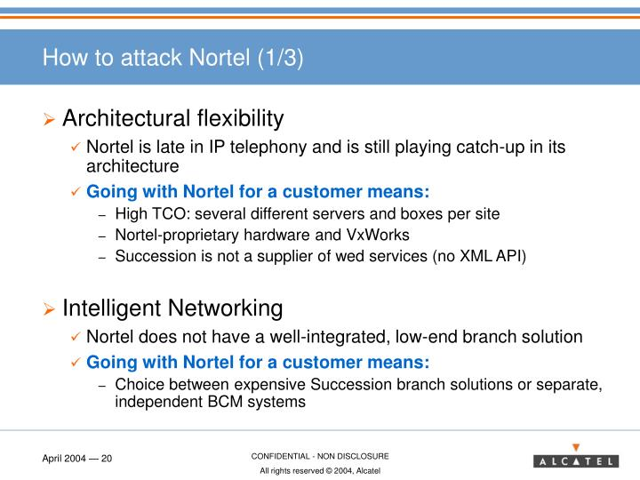 How to attack Nortel (1/3)