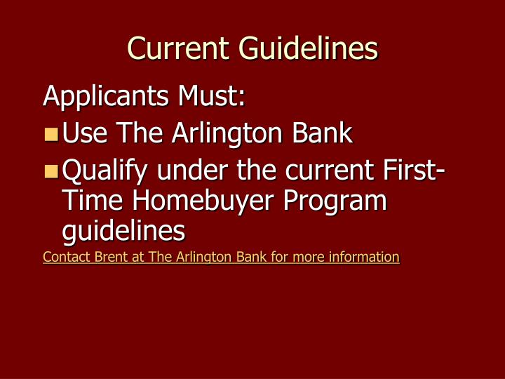 Current Guidelines