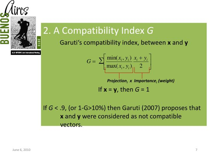 2. A Compatibility Index