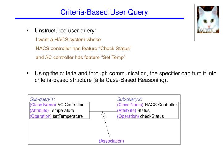 Criteria-Based User Query