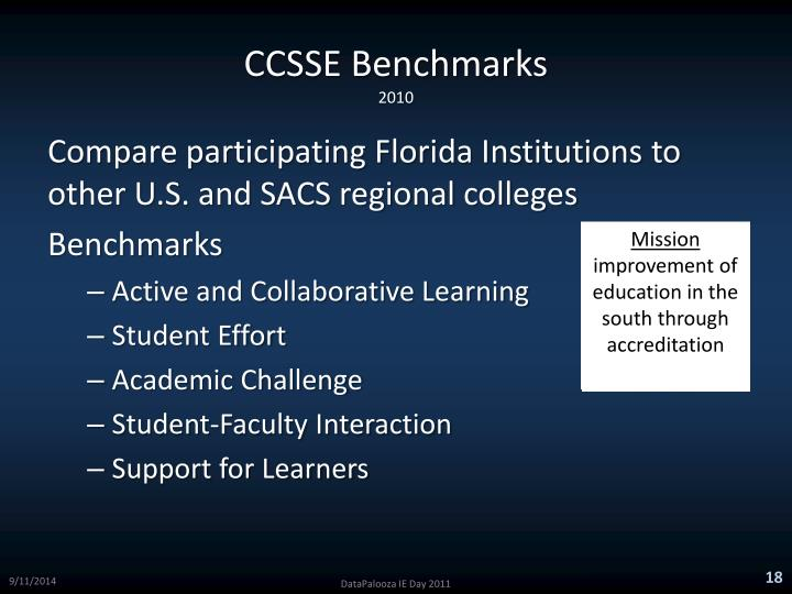 CCSSE Benchmarks