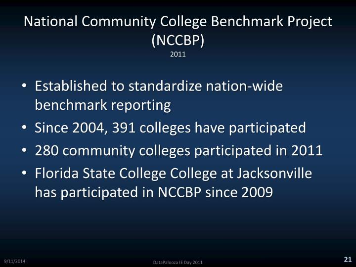 National Community College Benchmark Project (NCCBP