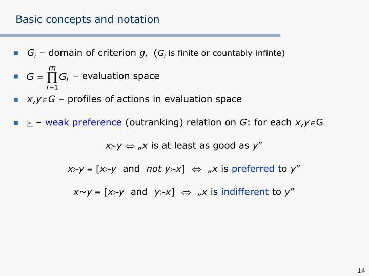 Basic concepts and notation