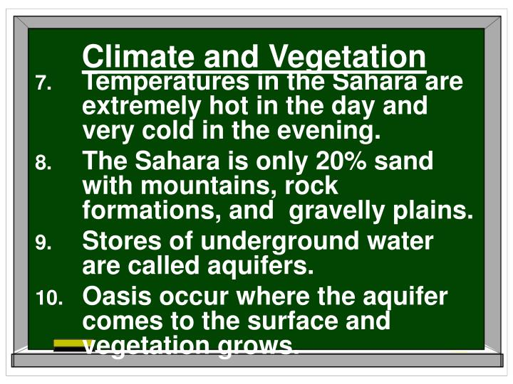 Climate and Vegetation