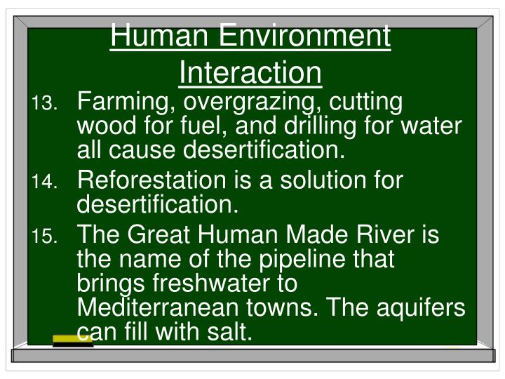 Human Environment Interaction