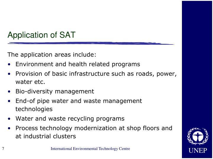 Application of SAT