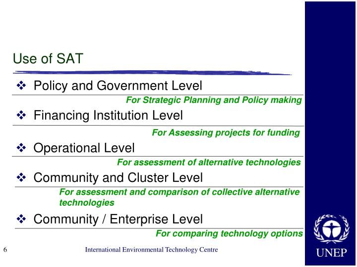 Use of SAT