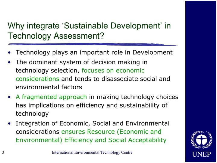 Why integrate 'Sustainable Development' in Technology Assessment?