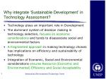 why integrate sustainable development in technology assessment