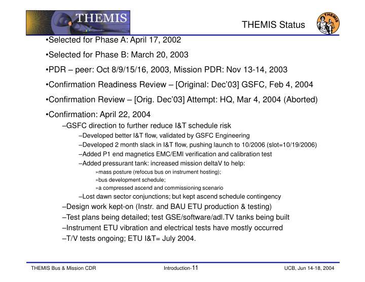 THEMIS Status