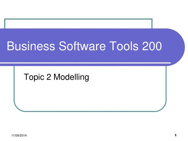 Business software tools 200