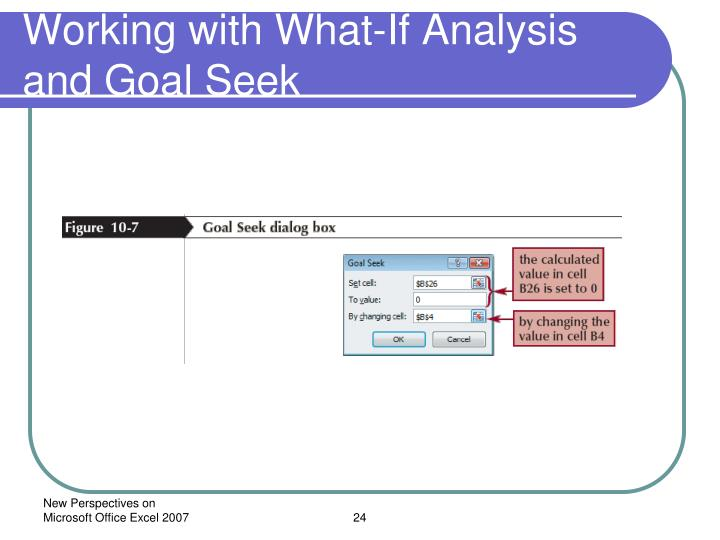 Working with What-If Analysis and Goal Seek
