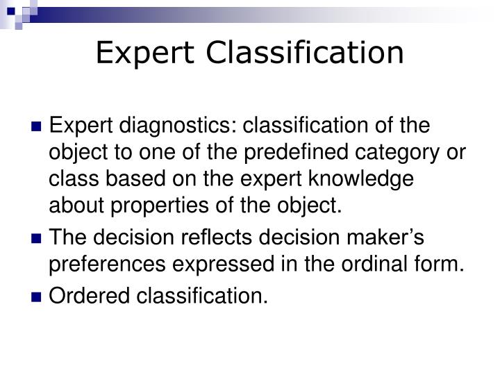 Expert Classification