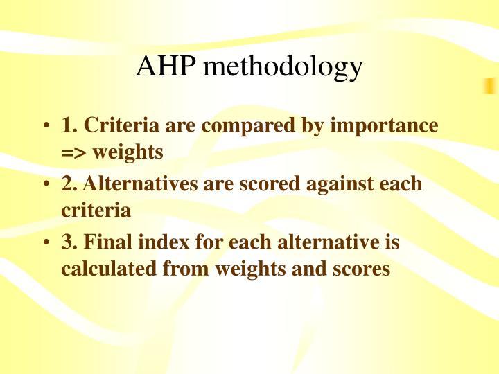 AHP methodology