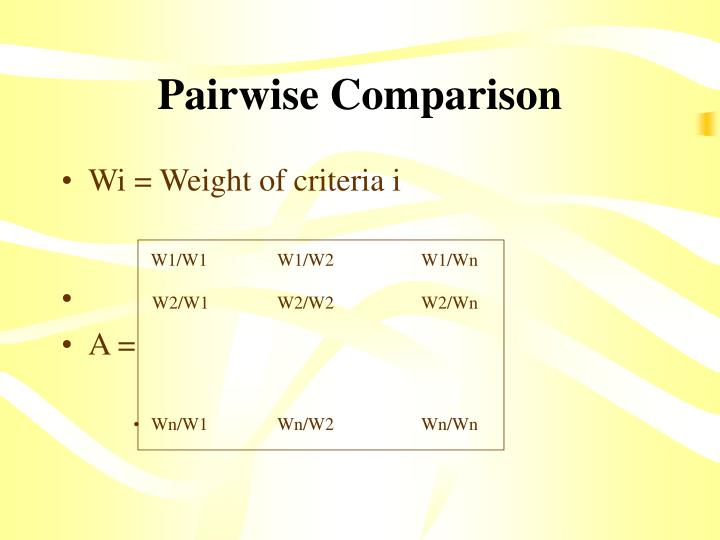 Pairwise Comparison