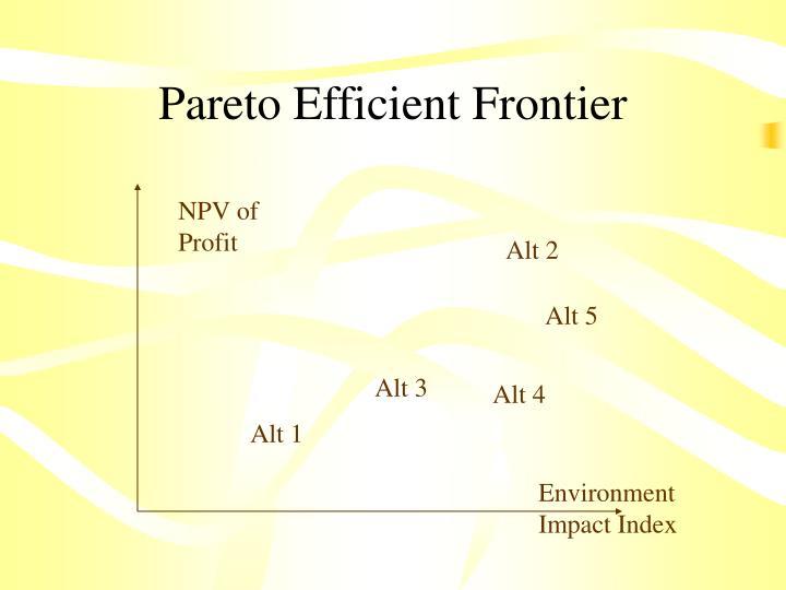 Pareto Efficient Frontier