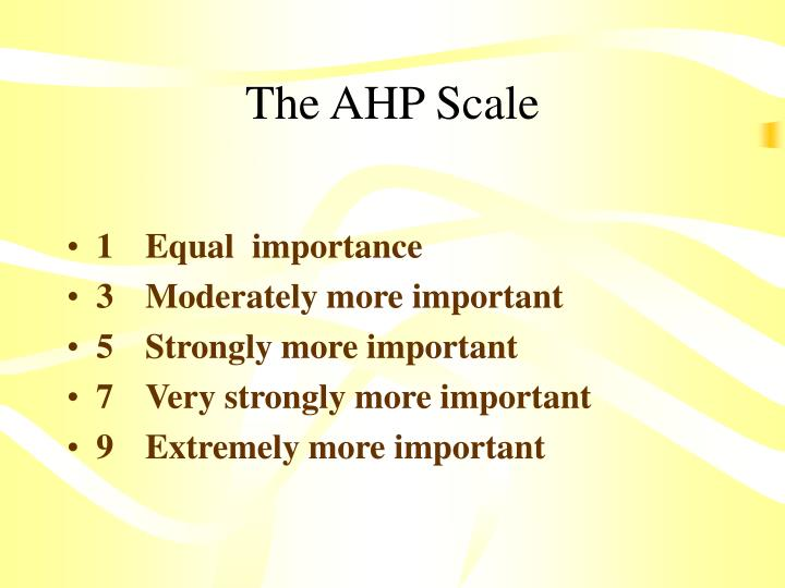The AHP Scale