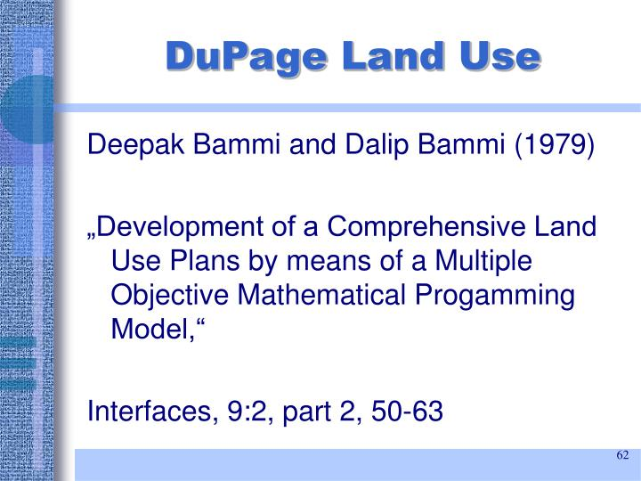 DuPage Land Use