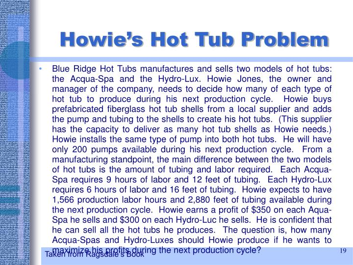 Howie's Hot Tub Problem