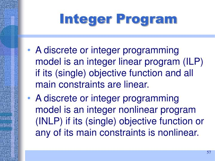 Integer Program