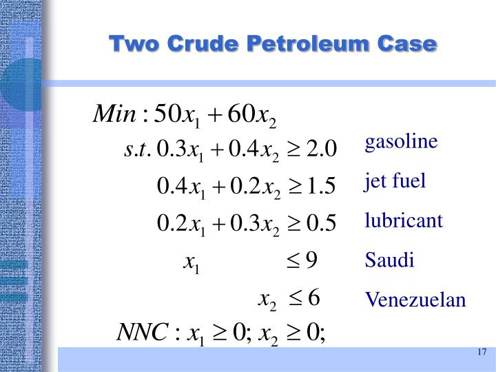 Two Crude Petroleum Case