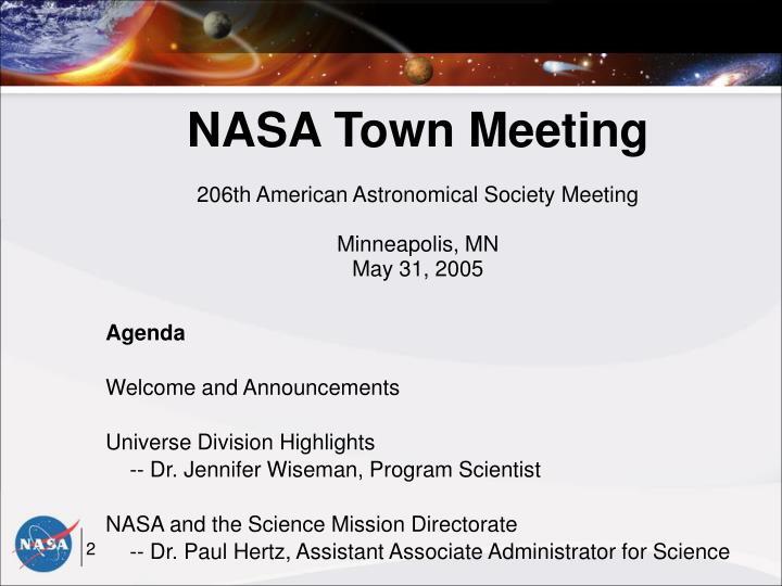 NASA Town Meeting
