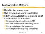 multi objective methods