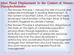 johor flood displacement in the context of nansen principles initiative