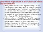 johor flood displacement in the context of nansen principles initiative1