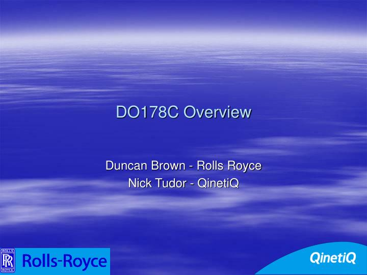 DO178C Overview