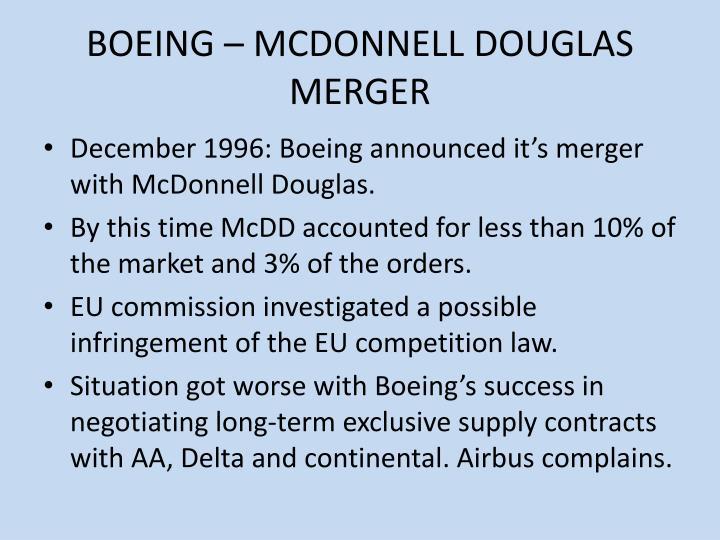 BOEING – MCDONNELL DOUGLAS MERGER
