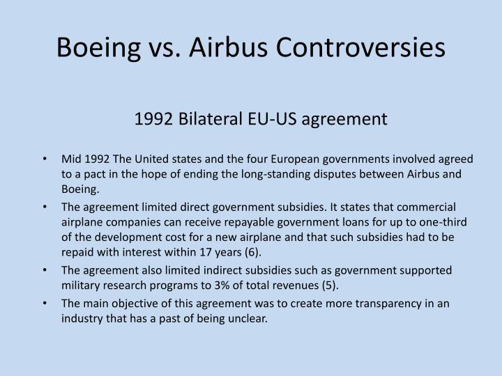Boeing vs. Airbus Controversies