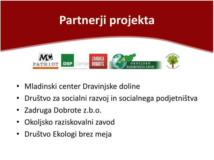 Partnerji projekta