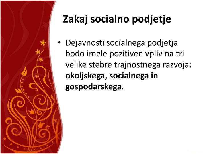 Zakaj socialno podjetje