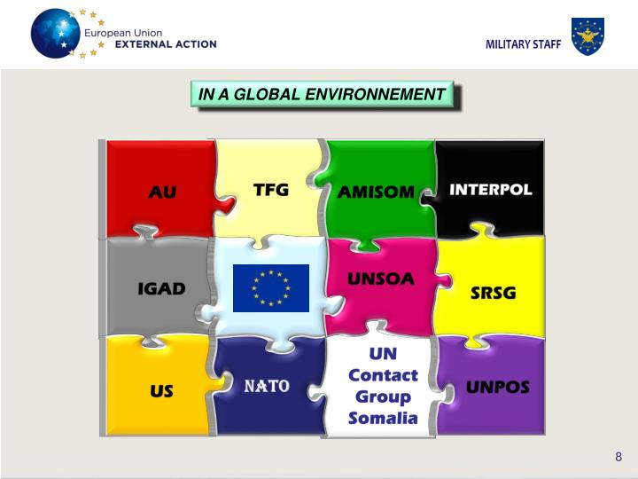 IN A GLOBAL ENVIRONNEMENT