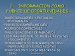 2 informacion como fuente de oportunidades