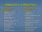 servicios a personas