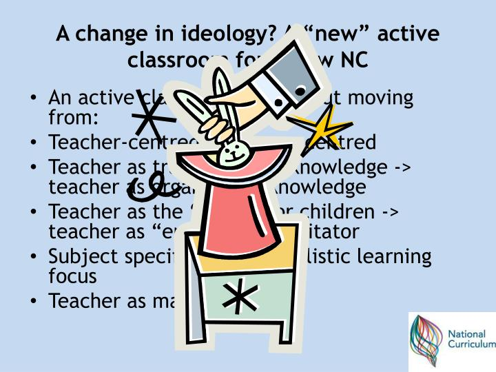 A change in ideology a new active classroom for a new nc