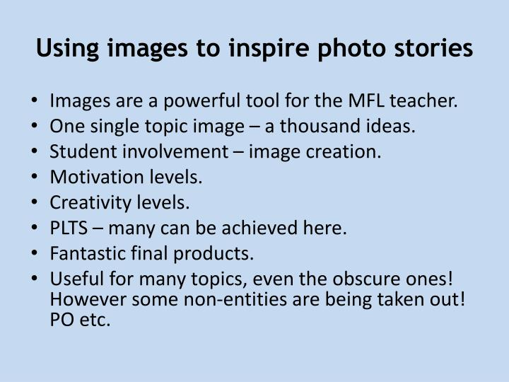 Using images to inspire photo stories