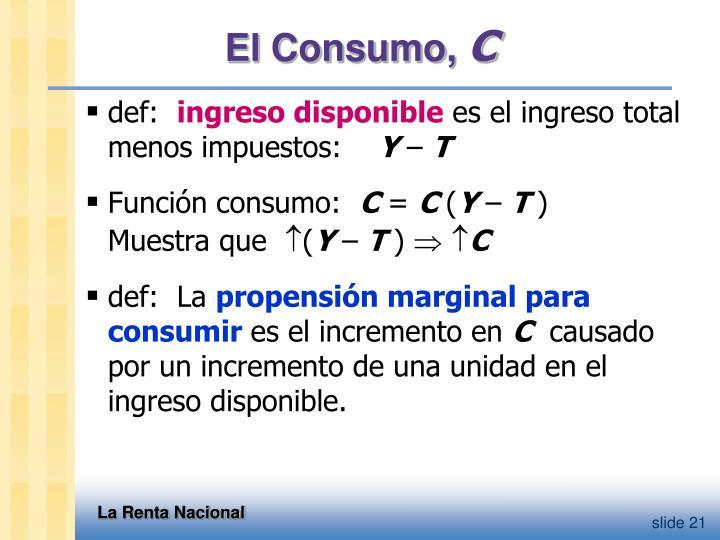El Consumo,